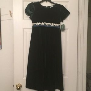 Deep Green Kid's Dress